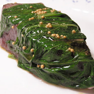 Basil-Infused Tuna With Soy Vinaigrette
