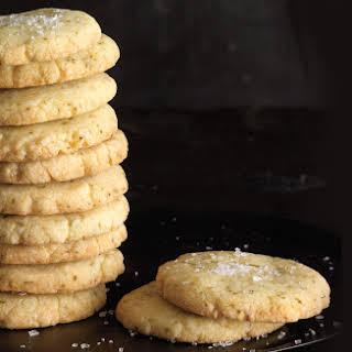 Lemon-Lime Basil Shortbread Cookies.