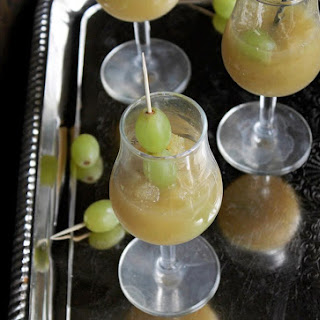 White Grape and Champagne Granita