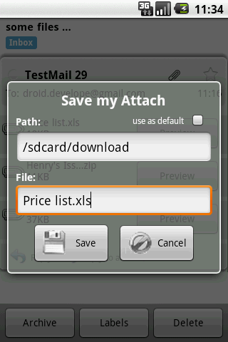 Save my Attach- screenshot