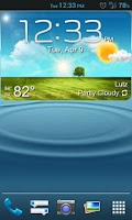 Screenshot of GS3 ish Weather (a UCCW Skin)