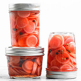 Sweet Riesling Pickled Radishes