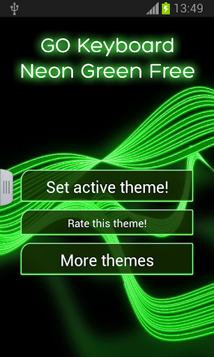 個人化必備免費app推薦|GO輸入法霓虹燈綠色免費版線上免付費app下載|3C達人阿輝的APP