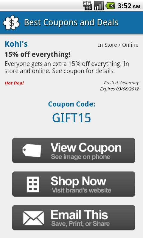 Black Friday Coupons & Deals - screenshot