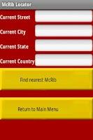 Screenshot of McRib Locator