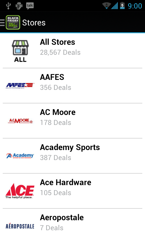 Black Friday Deal Finder 2013 - screenshot