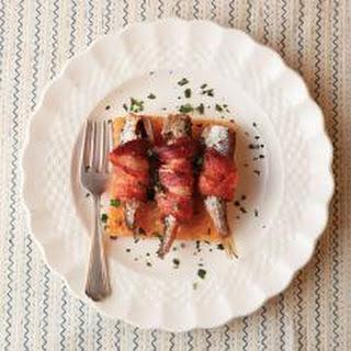 Mashed Potato Cake with Tuna and Avocado.