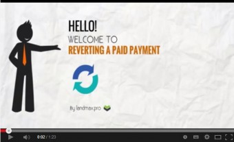 How to reverse a Paid Payment