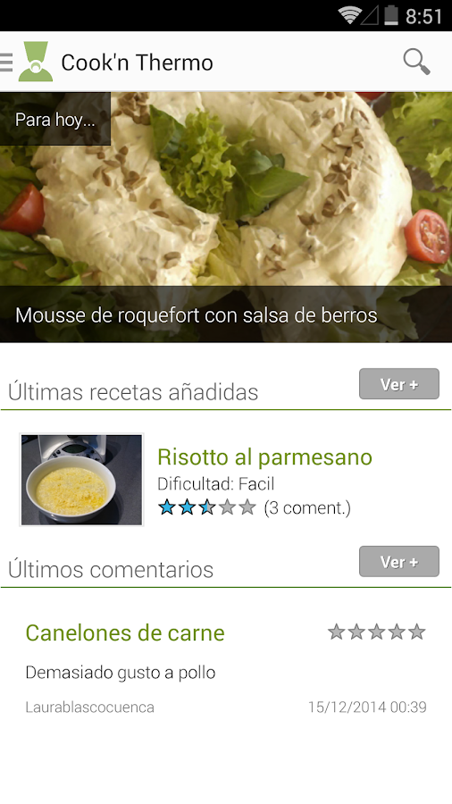 Cook'n Thermo: Recetas TMX: captura de pantalla