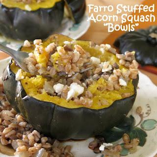 Roasted Acorn Squash Stuffed with Farro