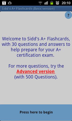 Sidd's A+ Flashcards Basic