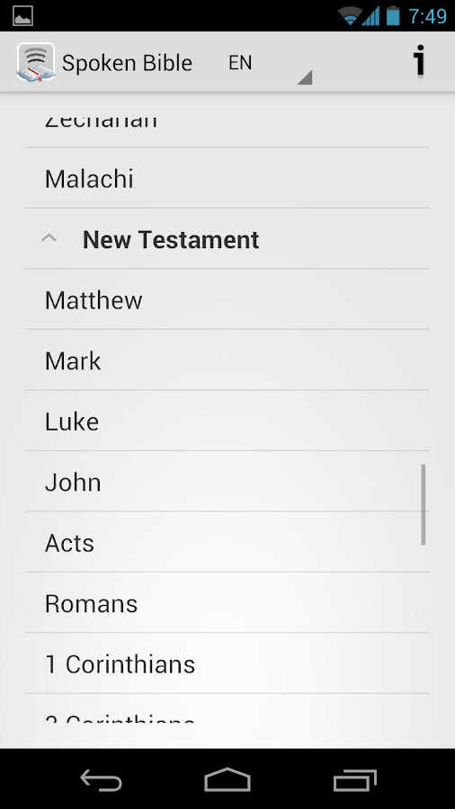 Spoken Bible - faith by audio - screenshot