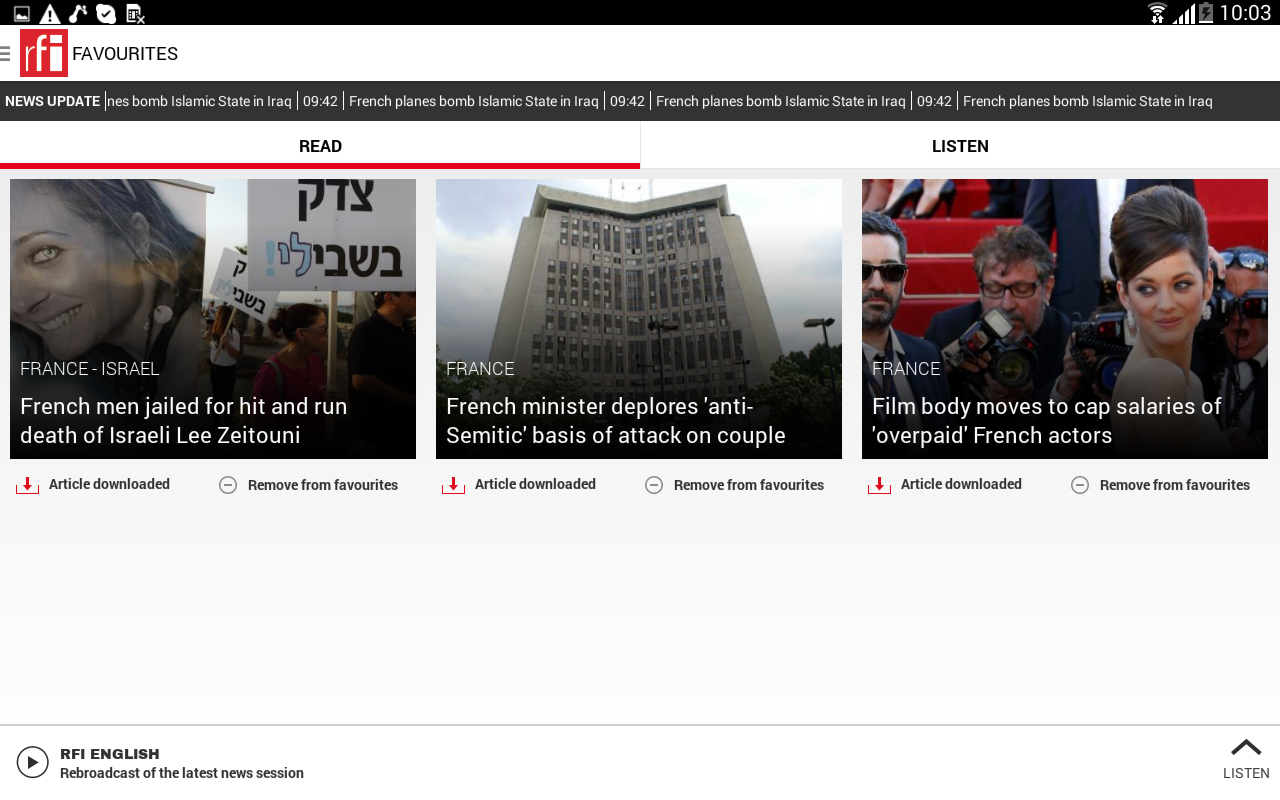 RFI- screenshot
