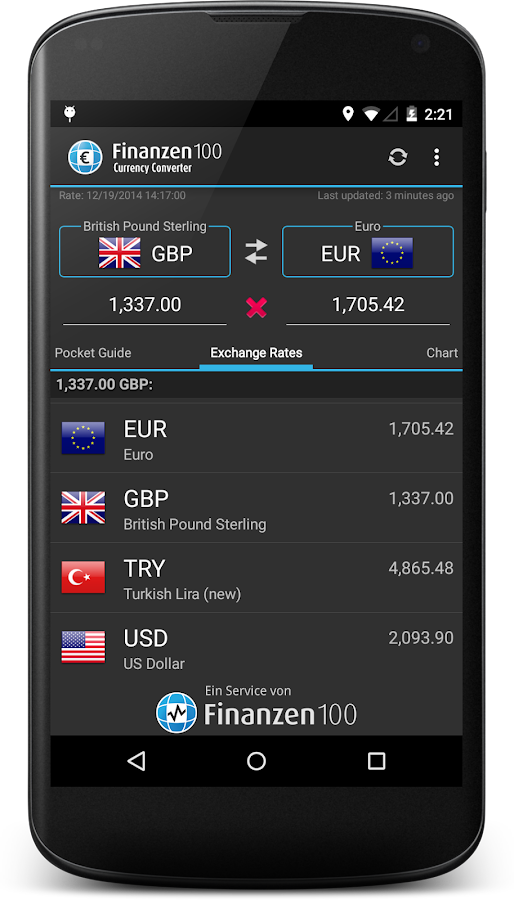 Currency Converter Finanzen100- screenshot