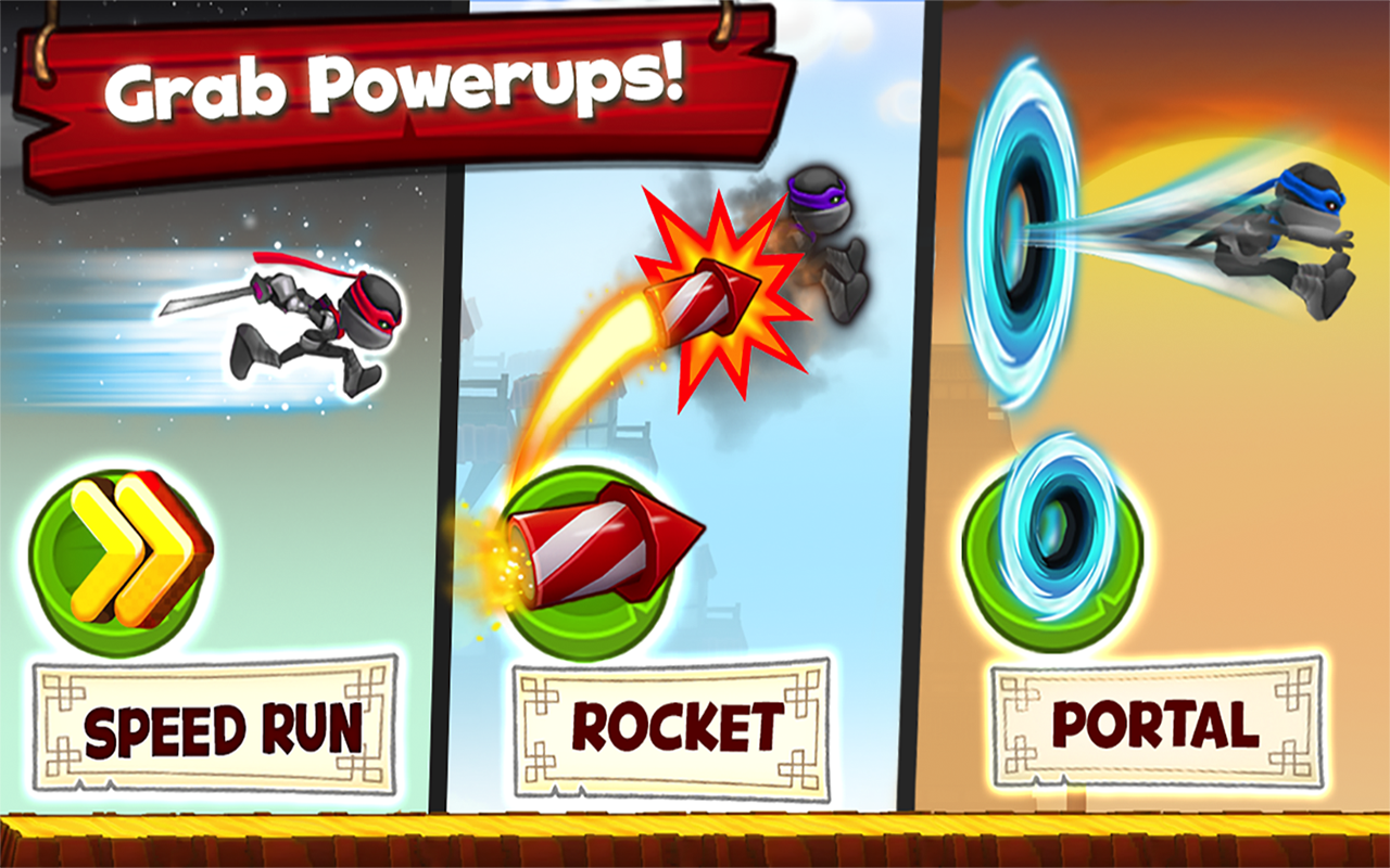 Screenshots of NinJump Dash: Multiplayer Race for iPhone
