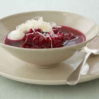 Beet Soup with Horseradish Cream