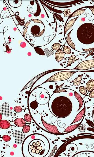 Ornate Flowers Live Wallpaper