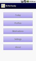 Screenshot of RX Pal Family Pill Reminder