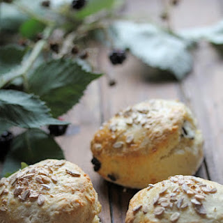 Hazelnut and Cranberry Scones.
