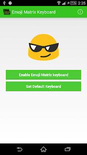 Emoji Matrix Keyboard