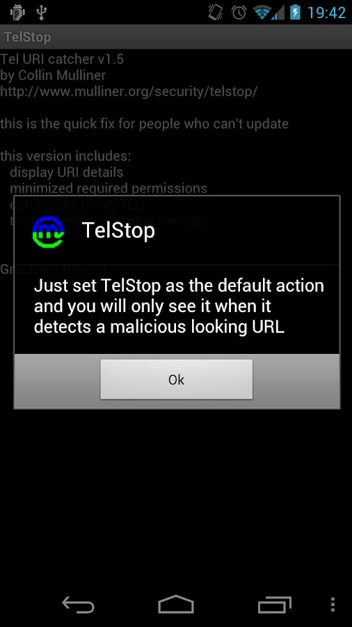 TelStop - screenshot