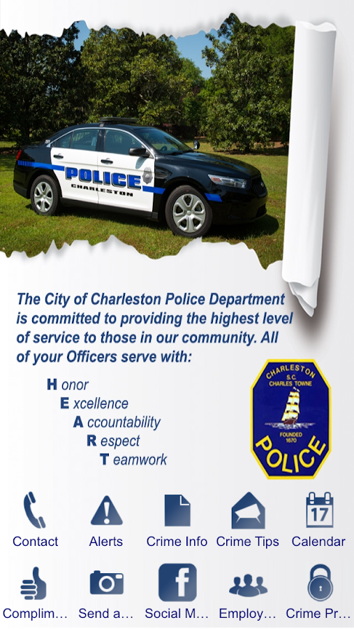 Charleston Police Department- screenshot