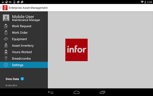 Infor EAM Mobile Disconnected