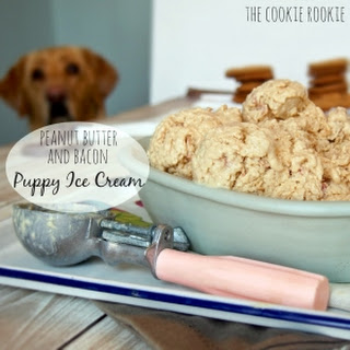 Peanut Butter Bacon Puppy Ice Cream.