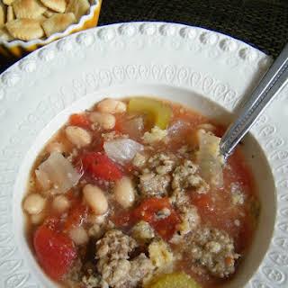 Sausage & White Bean Slow Cooker Soup.