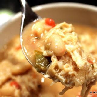 Ultra Simple Crock Pot White Chicken Chili.