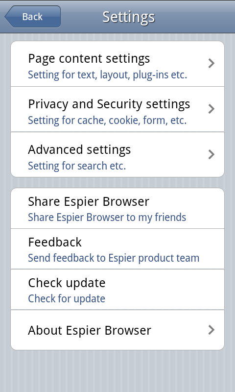 Espier Browser - screenshot