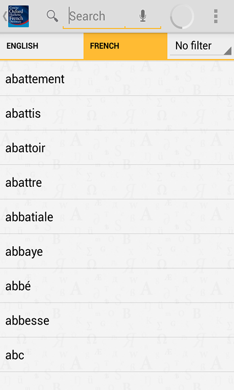 Concise Oxford French Dict - screenshot