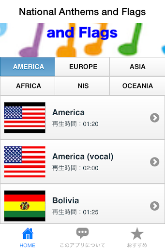 National Anthems and Flags~国歌