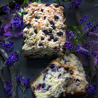 Gluten Free Blueberry Pound Cake.