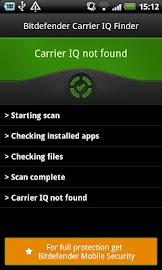 Bitdefender Carrier IQ Finder Screenshot 1