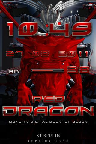 Red Dragon digital Clock