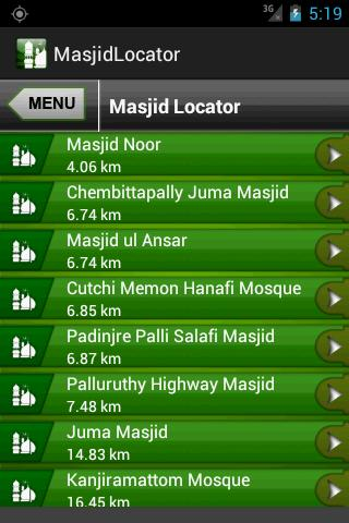 Masjid Finder - screenshot