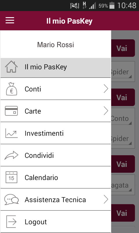 Banca MPS per Smartphone- screenshot