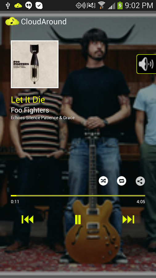 CloudAround Lite Music Player - screenshot