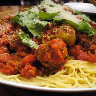 Bobby Flay's Spaghetti and Meatballs.