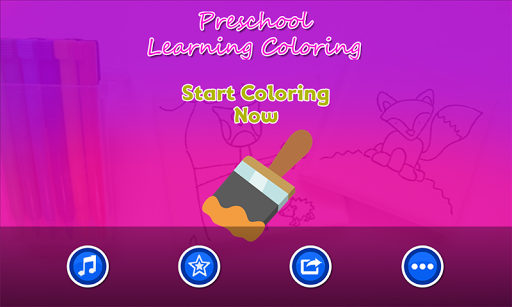 Preschool Learning Coloring