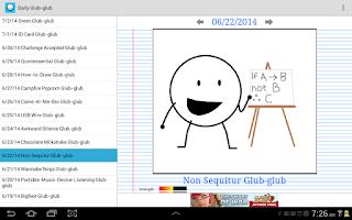 Screenshot of Daily Glub-glub