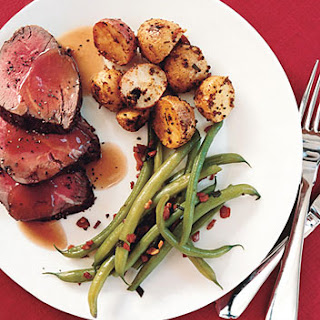 Roast Beef Tenderloin with Port Sauce.