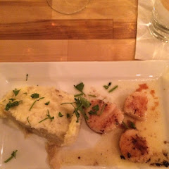 Giant diver scallops with mascarpone mashed potatoes.