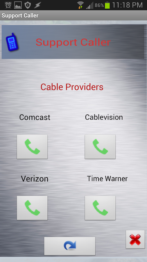Support Caller - screenshot