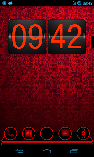 Holo Red Next Launcher Theme