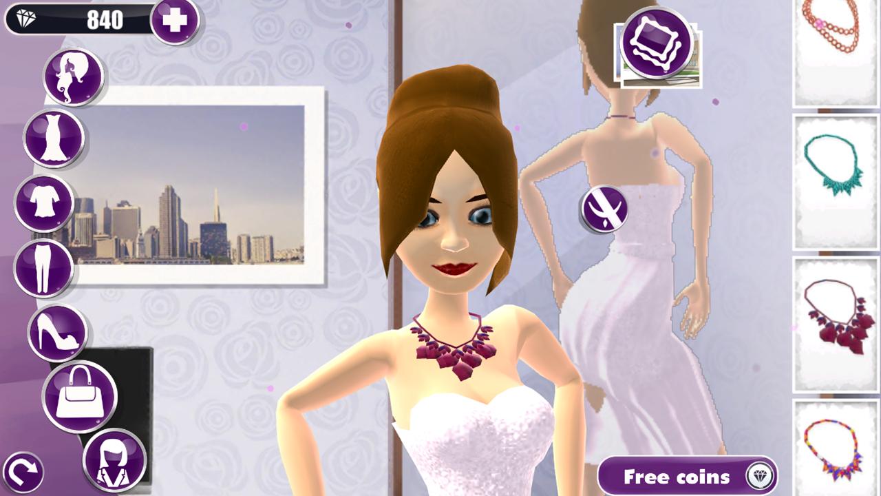 Dress up casual girl games - 3d Model Dress Up Girl Game Screenshot