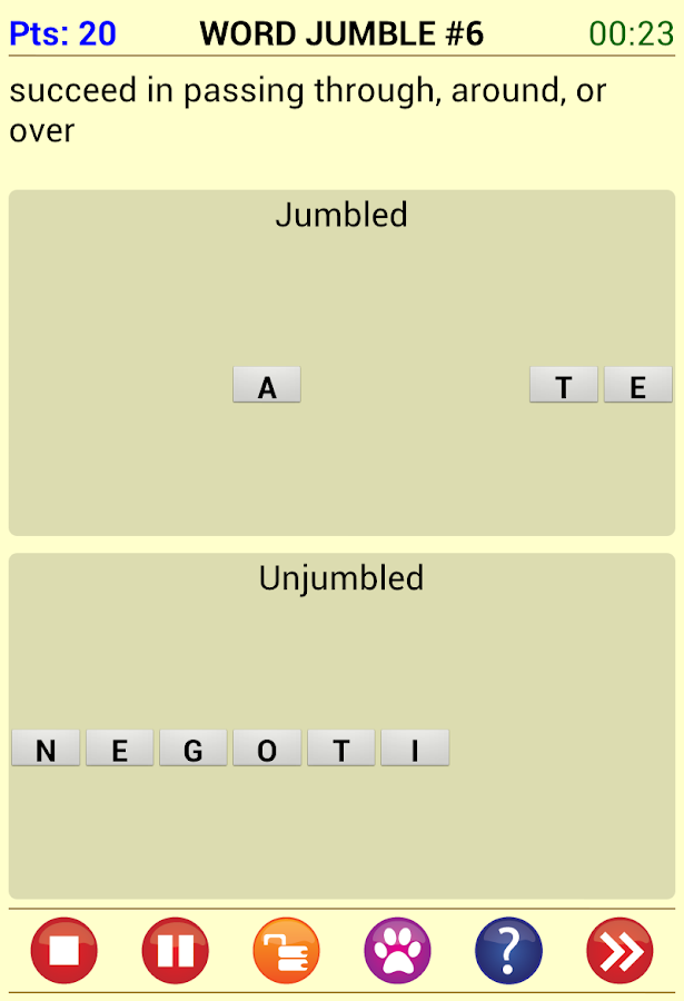 Word Jam- screenshot