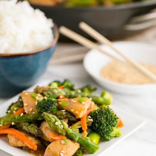 Orange Chicken and Vegetable Stir Fry