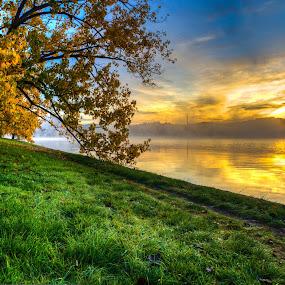 Lake BG 1 by Peter Hoek - Landscapes Sunsets & Sunrises